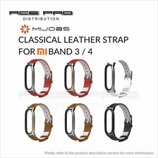 MIJOBS Classical Leather Strap for Mi Band 3 / 4