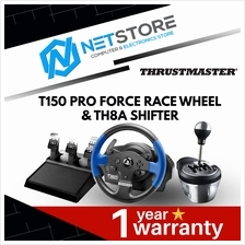 THRUSTMASTER BUNDLE T150 PRO FORCE RACE WHEEL & Th8A SHIFTER