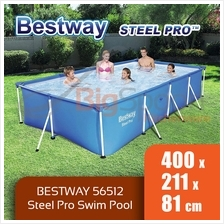 BIGSPOON BESTWAY 56512 STEELPRO 400x211x81cm Large Frame Swimming Pool