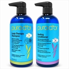 US. PURA D'OR Scalp Therapy and Healing Scalp Shampoo  & Conditioner Set For D