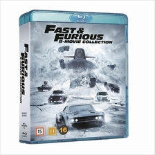 FAST AND FURIOUS 1-8 BLU RAY REGION FREE NEW BOX SET ORIGINAL IMPORTED