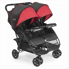 US. Kolcraft Cloud Plus Lightweight Double Stroller - 5-Point Safety S