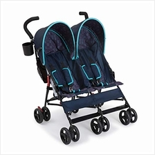 US. Delta Children LX Side by Side Stroller, Night Sky