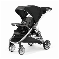 US. Chicco BravoFor2 Standing/Sitting Double Stroller, Iron