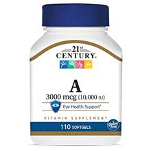 US. 21st Century A 10,000 I.U. Softgels, 110 Count