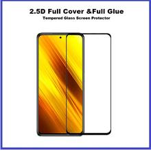 XiaoMi Poco X3 NFC Full Glue Cover Tempered Glass Screen Protector