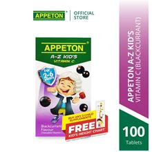 APPETON A-Z KID'S Vitamin C Chewable Tablet for 2-6 Year Old (Blkcrnt)