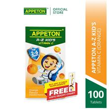 APPETON A-Z KID'S Vitamin C Chewable Tablet for 2-6 Year Old (Orange)