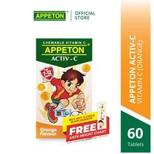APPETON ACTIV-C 100mg Chewable Tablet for 7-12 Years Old (Orange)