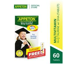 APPETON Multivitamin Hi-Q Taurine with DHA Chewable Tablet (60's)