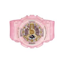 Casio BABY-G Ladies Ana-Digit Pink Sea Glass Color Watch BA-110SC-4ADR
