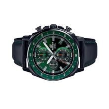 Casio EDIFICE Men Chronograph Green Dial Leather Watch EFV-600CL-3AV