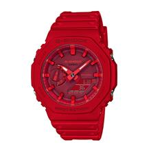 Casio G-SHOCK Men Ana-Digit Carbon Core Red Sport Watch GA-2100-4ADR