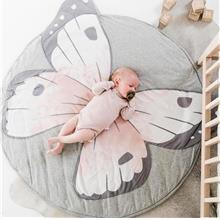 INS Cute Butterfly Printed Baby Crawling Pad