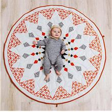 Moroccan-style Geometric Baby Mat
