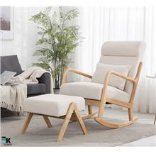 Solid Wood Japan Single Lazy Sofa Rocking Chair (1 month pre-order)