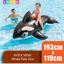 BIGSPOON INTEX 58561 Whale Ride-On 1.93m x 1.19m Inflatable Floaties