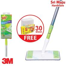 MAJU 3M Scotch Brite Easy Sweeper Plus Wiper Mop Set Magic Dry Wet Flo