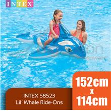 BIGSPOON INTEX 58523 Lil Whale Ride-On 1.52m x 1.14m Inflatable