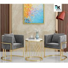 Nordic Luxury Cafe Lounge Sofa and Coffee Table (1 month pre-order)