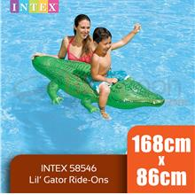 BIGSPOON INTEX 58546 Lil Gator Ride-On 1.68m x 86cm Inflatable
