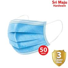MAJU 50pcs 3 Ply Layer Disposable Civil Mask Melt Blown Cloth Non Wove