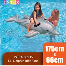 BIGSPOON INTEX 58535 Lil Dolphin Ride-On 1.75m x 66cm Inflatable