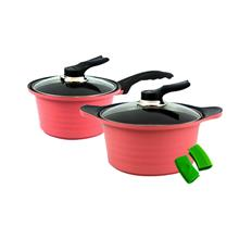 [Set of 2] BAUER Sauce Pan 18cm + Sauce Pot 20cm Set