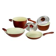 Set of 4Ceramic Coating Frying Pan 20cm Stir Wok 14 inch Sauce Pan18cm