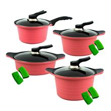 Set of 4 BAUER Sauce Pan 18cm Sauce Pot 20cm Casserole 24cm+Stew Pot 2