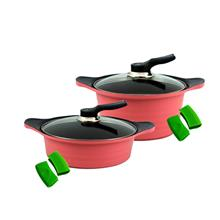 [Set of 2] BAUER Casserole 24cm + Stew Pot 24cm Set