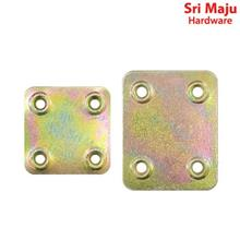 MAJU FBI-YZSQ Yellow Zinc Metal Flat Bracket Mending Plate Repair Fixi