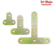 MAJU FBI-YZT20 Yellow Zinc Metal T Tee Flat Bracket Mending Plate Repa