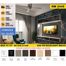 [FREE INSTALL & BRACKET TV] Cabinet Tv Wall Mouted Max TV 70""