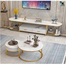 Modern Light Luxury Marble TV Cabinet Coffee Table (1 month pre-order)
