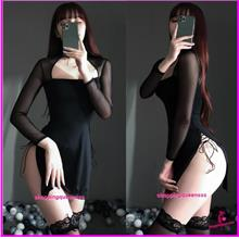 Sexy Lingerie Black Tight Party Dress Clubwear Nightwear Costume