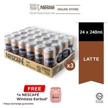 NESCAFE Latte 24 cans 240ml, x3 cartons FREE Nescafe Earbud