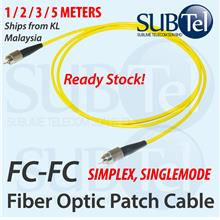 FC-FC SMF Simplex Single Mode Fiber Optic Patch Cord Cable 1M 2M 3M FC