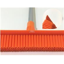 Rubber Broom (Soft Bristle With Squeegee  with  Extendable Handle)