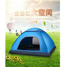 3-4 Men Automatic Camping Tent Outdoor Waterproof Free Carry Bag