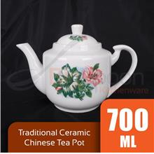 BIGSPOON TP06062 700ml Traditional Chinese Tea Pot Ceramic 6308 Floral