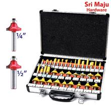 MAJU RBT-35 35pcs Router Bit Set 1/4 or 1/2 inch Tungsten Carbide