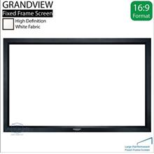 "GRANDVIEW Large Flat Series Fixed Frame Screen 16:9 106""D White"