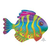 Colourful Fish 32in Super Shape Foil Balloon 32850