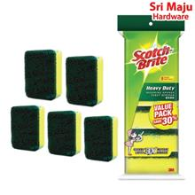 MAJU 3M Scotch Brite 21-5 Scouring Sponge (5s) Dish Pot Wash Cleaning