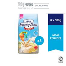 Nestle EVERYDAY Malt Milk Powder 500g, Bundle of 3 ExpDate:Jan'21
