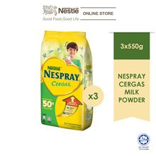 NESPRAY CERGAS Milk Powder Softpack 550g, Bundle of 3 ExpDate:Jan'21