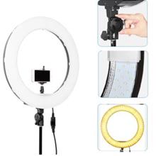 Studio ring light 18inch for makeup videography full set with light stand