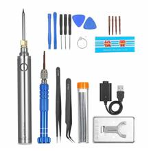 22 Pieces Welding Tool Kit DIY Soldering Tools Mobile Phone Maintenance Tools
