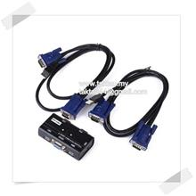 2 Port USB VGA KVM Switch + Cables for Computer Sharing Monitor